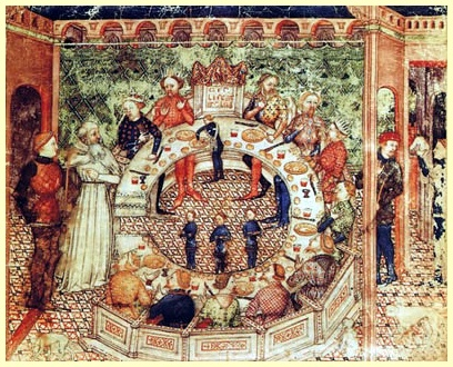Rei Arthur e os Cavaleiros na Távola Redonda